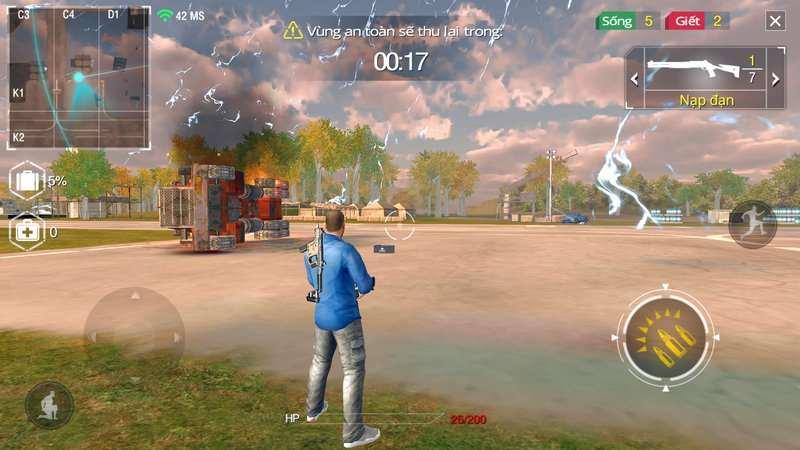 Imagem de exemplo na batalha do Free Fire
