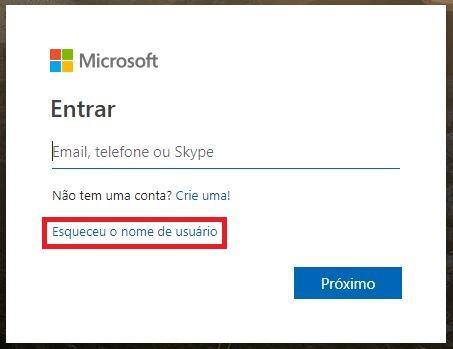 Recuperar acesso à conta Hotmail