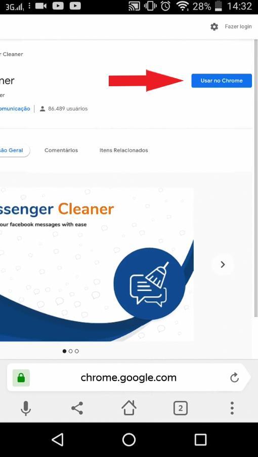 Instalar Extensão Messenger Cleaner