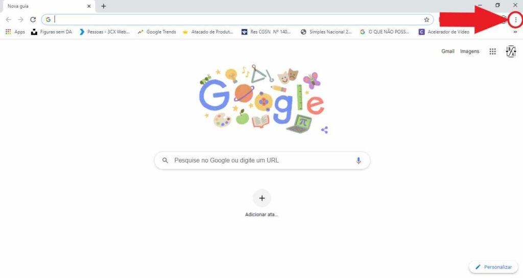 Opções do Chrome