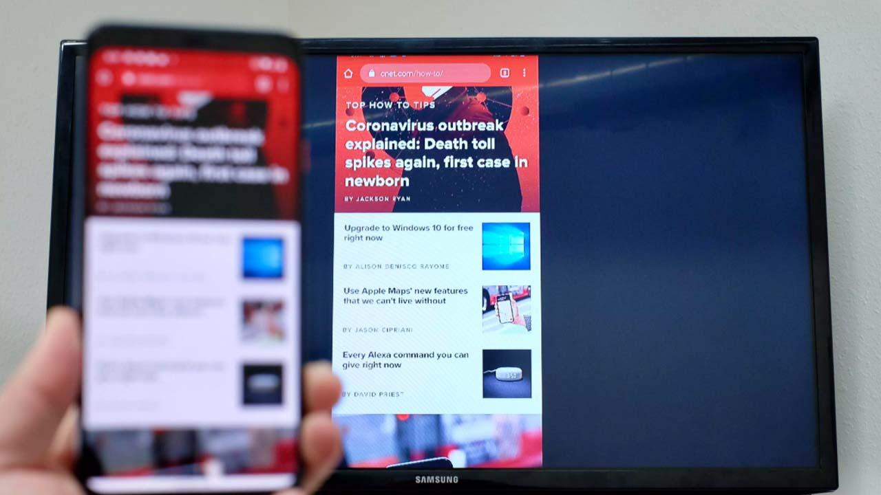 Espelhar celular na TV
